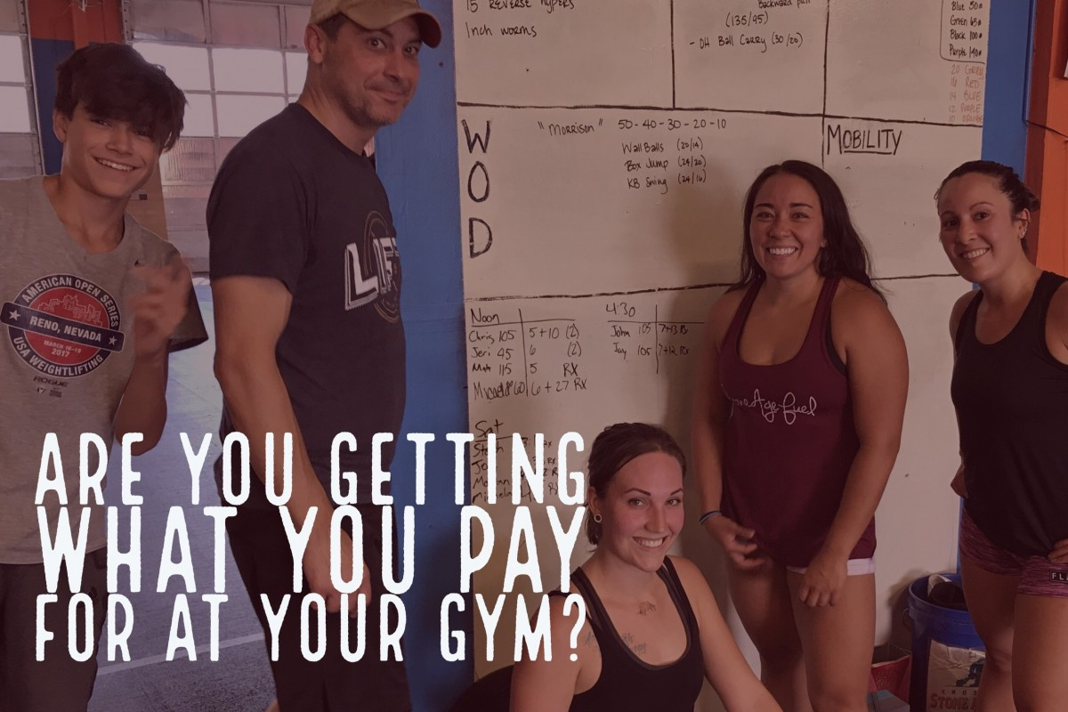 What do you get for what you pay for at your gym?