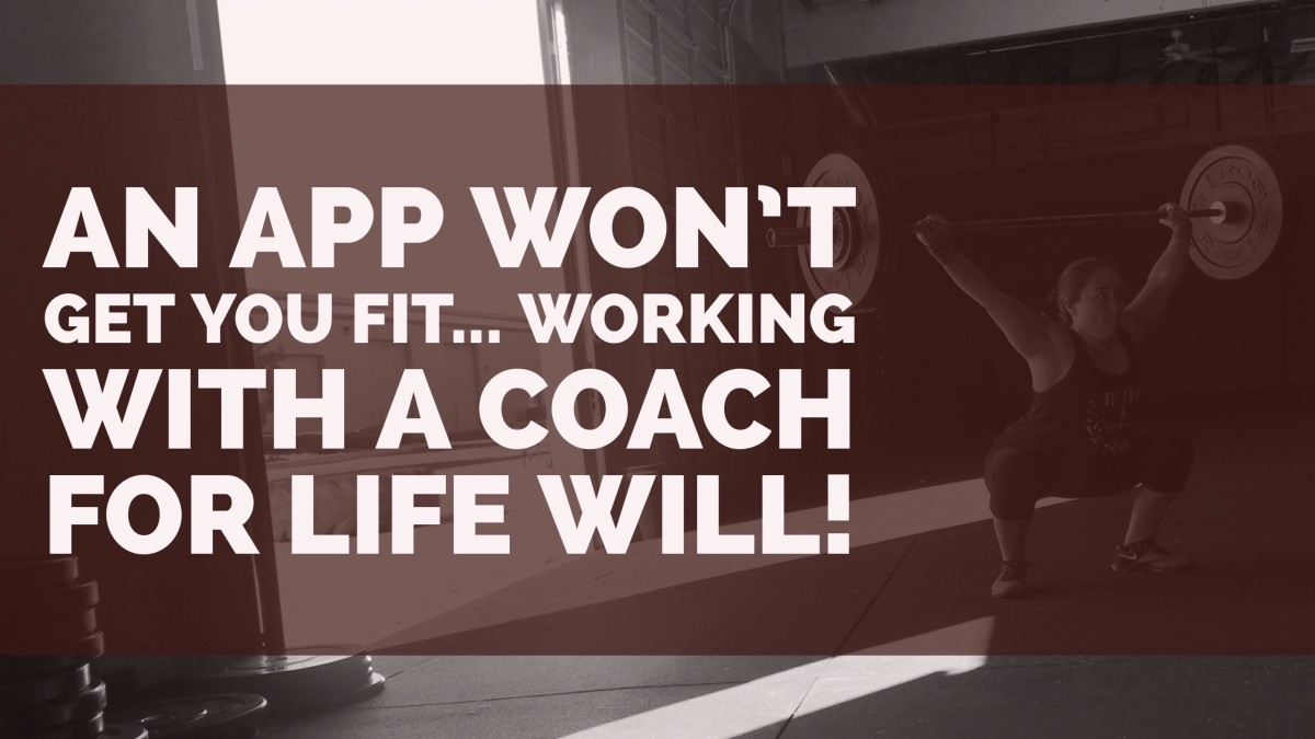 An app won't get you fit for life
